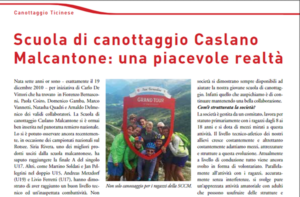 Bell'articolo sulla SCCM nella rivista Swiss Rowing 04/2017